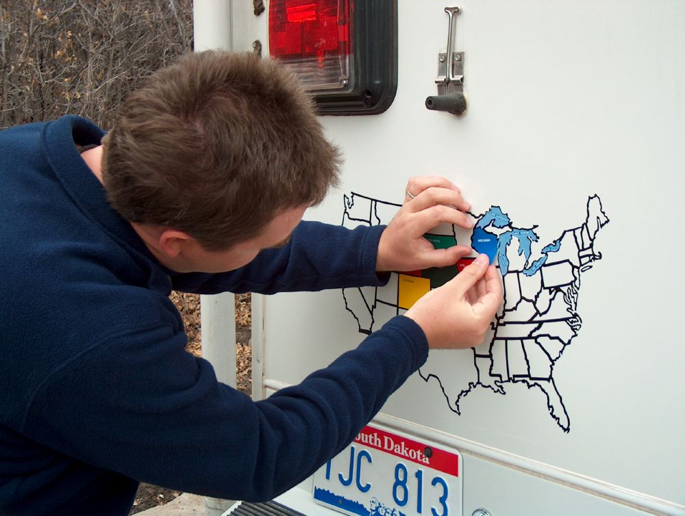 Where RV Now Magnets And Mountain Lions - Us state sticker map